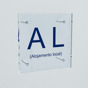 Placa de Alojamento Local|Placa AL|Placa identificativa dos estabelecimentos de alojamento local