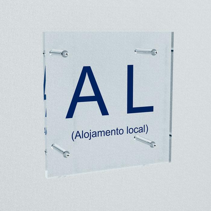 Placa de Alojamento Local Placa AL Placa identificativa dos estabelecimentos de alojamento local