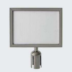 Porta Cartaz p/ Barreira cromado A4 horizontal