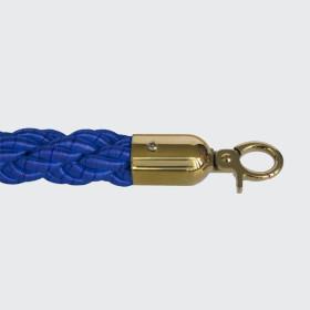 Corda entrelaçada azul - dourado