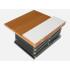Porta folhetos + bancada metálico 3 bandejas de metal| Porta catálogos