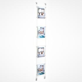 Kit 4 acrílicos A4 Vertical para montras imobiliárias